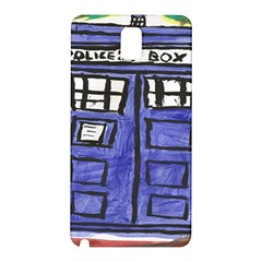 Tardis Painting Samsung Galaxy Note 3 N9005 Hardshell Back Case