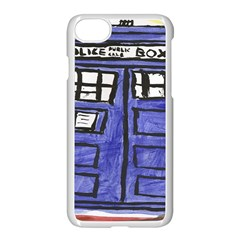 Tardis Painting Apple Iphone 7 Seamless Case (white) by Samandel