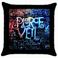 Pierce The Veil Quote Galaxy Nebula Throw Pillow Case (black) by Samandel