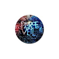 Pierce The Veil Quote Galaxy Nebula Golf Ball Marker by Samandel