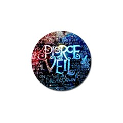 Pierce The Veil Quote Galaxy Nebula Golf Ball Marker (4 Pack) by Samandel