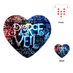 Pierce The Veil Quote Galaxy Nebula Playing Cards (heart)  by Samandel