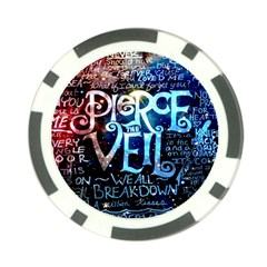 Pierce The Veil Quote Galaxy Nebula Poker Chip Card Guard (10 Pack) by Samandel