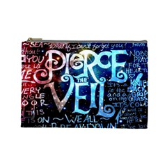 Pierce The Veil Quote Galaxy Nebula Cosmetic Bag (large)  by Samandel