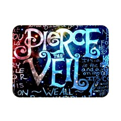 Pierce The Veil Quote Galaxy Nebula Double Sided Flano Blanket (mini)  by Samandel