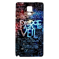 Pierce The Veil Quote Galaxy Nebula Galaxy Note 4 Back Case by Samandel