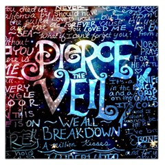 Pierce The Veil Quote Galaxy Nebula Large Satin Scarf (square)