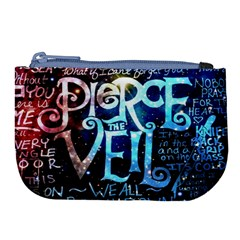 Pierce The Veil Quote Galaxy Nebula Large Coin Purse by Samandel