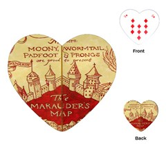 Marauders Map Playing Cards (heart)