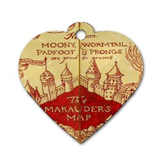 Marauders Map Dog Tag Heart (one Side)