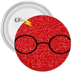 Glasses And Lightning Glitter 3  Buttons Front