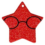 Glasses And Lightning Glitter Ornament (Star) Front