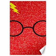 Glasses And Lightning Glitter Canvas 24  X 36  by Samandel