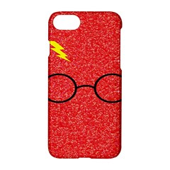 Glasses And Lightning Glitter Apple Iphone 8 Hardshell Case
