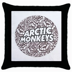 Artic Monkeys Flower Circle Throw Pillow Case (black) by Samandel