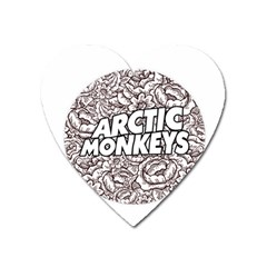 Artic Monkeys Flower Circle Heart Magnet
