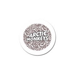 Artic Monkeys Flower Circle Golf Ball Marker by Samandel