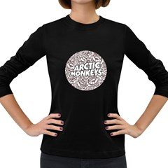 Artic Monkeys Flower Circle Women s Long Sleeve Dark T Shirts