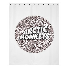 Artic Monkeys Flower Circle Shower Curtain 60  X 72  (medium)