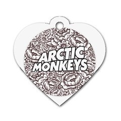 Arctic Monkeys Flower Circle Dog Tag Heart (one Side)