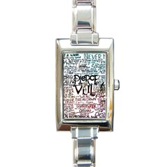 Pierce The Veil Galaxy Rectangle Italian Charm Watch