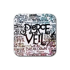 Pierce The Veil Galaxy Rubber Square Coaster (4 Pack)  by Samandel