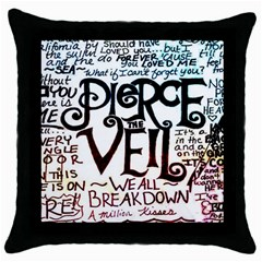 Pierce The Veil Galaxy Throw Pillow Case (black)