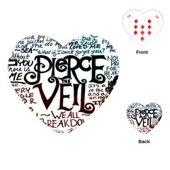 Pierce The Veil Galaxy Playing Cards (heart)
