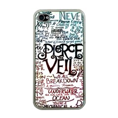 Pierce The Veil Galaxy Apple Iphone 4 Case (clear) by Samandel