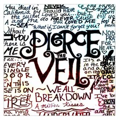 Pierce The Veil Galaxy Large Satin Scarf (square) by Samandel