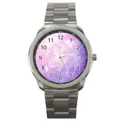 Beautiful Rose, Soft Violet Colors Sport Metal Watch by FantasyWorld7