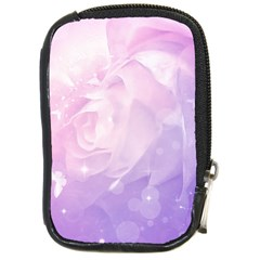 Beautiful Rose, Soft Violet Colors Compact Camera Cases by FantasyWorld7