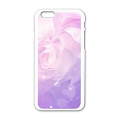 Beautiful Rose, Soft Violet Colors Apple Iphone 6/6s White Enamel Case by FantasyWorld7