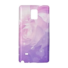Beautiful Rose, Soft Violet Colors Samsung Galaxy Note 4 Hardshell Case by FantasyWorld7