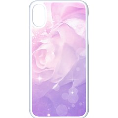 Beautiful Rose, Soft Violet Colors Apple Iphone X Seamless Case (white) by FantasyWorld7