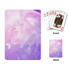 Beautiful Rose, Soft Violet Colors Playing Card by FantasyWorld7