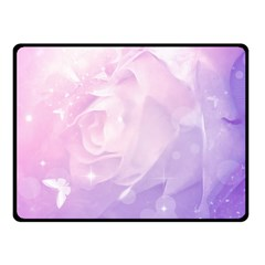 Beautiful Rose, Soft Violet Colors Fleece Blanket (small) by FantasyWorld7