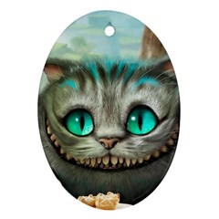 Cheshire Cat Ornament (oval)