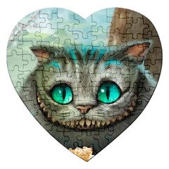 Cheshire Cat Jigsaw Puzzle (heart) by Samandel