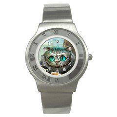 Cheshire Cat Stainless Steel Watch by Samandel
