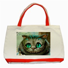 Cheshire Cat Classic Tote Bag (red) by Samandel