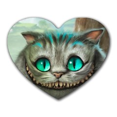 Cheshire Cat Heart Mousepads