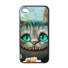 Cheshire Cat Apple Iphone 4 Case (black) by Samandel