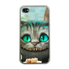 Cheshire Cat Apple Iphone 4 Case (clear) by Samandel