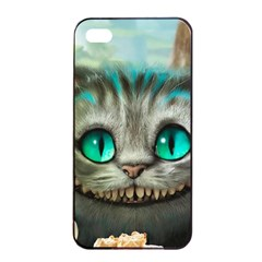 Cheshire Cat Apple Iphone 4/4s Seamless Case (black) by Samandel