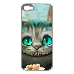 Cheshire Cat Apple Iphone 5 Case (silver) by Samandel