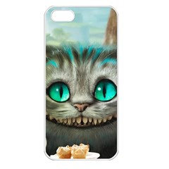 Cheshire Cat Apple Iphone 5 Seamless Case (white) by Samandel