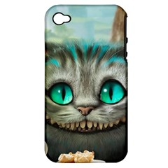 Cheshire Cat Apple Iphone 4/4s Hardshell Case (pc+silicone) by Samandel