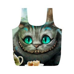 Cheshire Cat Full Print Recycle Bags (m)  by Samandel