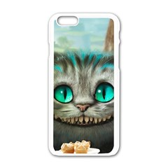 Cheshire Cat Apple Iphone 6/6s White Enamel Case by Samandel